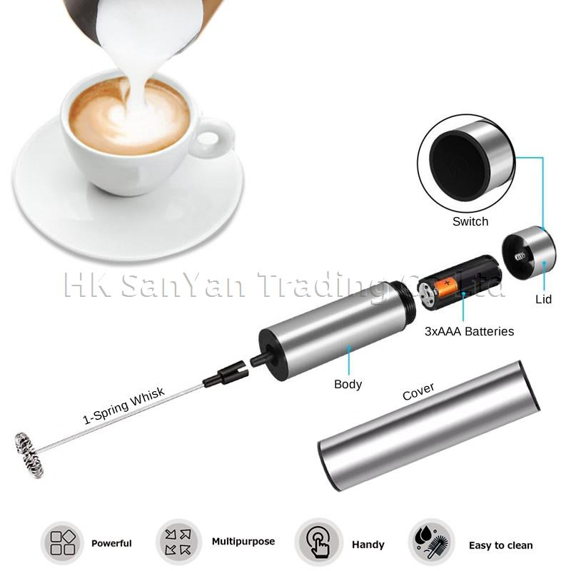 Electric Milk Frother with Cover
