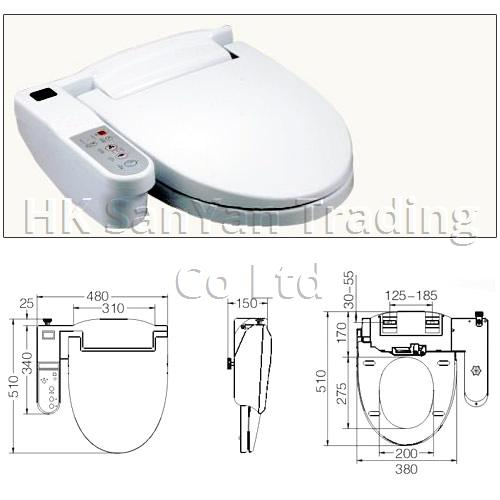 Electronic Bidet Toilet Seat with Remote Control SY-58A