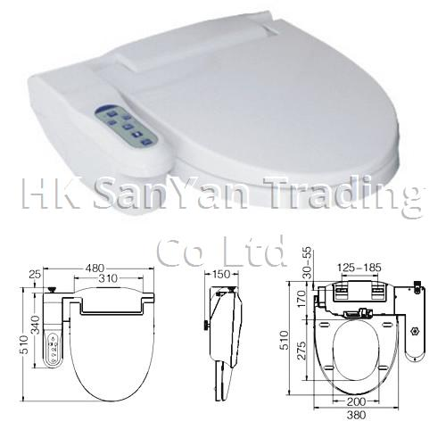 Electronic Bidet Toilet Seat with Remote Control SY-58B